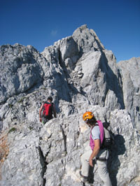 Mountaineering in Slovenian Alps